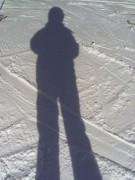 Skifahren, schneller als der Schatten