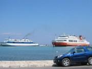 113-1317 IMG...Blick auf die Fähren im Hafen von Zakynthos...